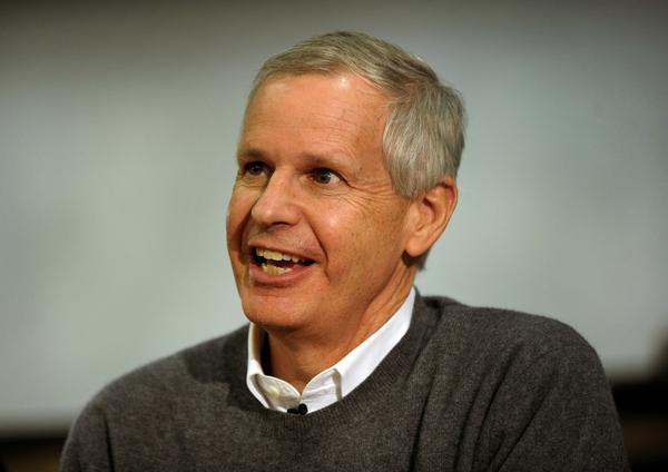 """Dish Network Corporation Chairman Charlie Ergen responded to questions during an """"Entrepreneurs Unplugged"""" event at the University of ColoradoTuesday night, April 17, 2012. Karl Gehring/The Denver Post"""
