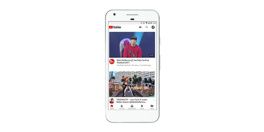 YouTube nova appka